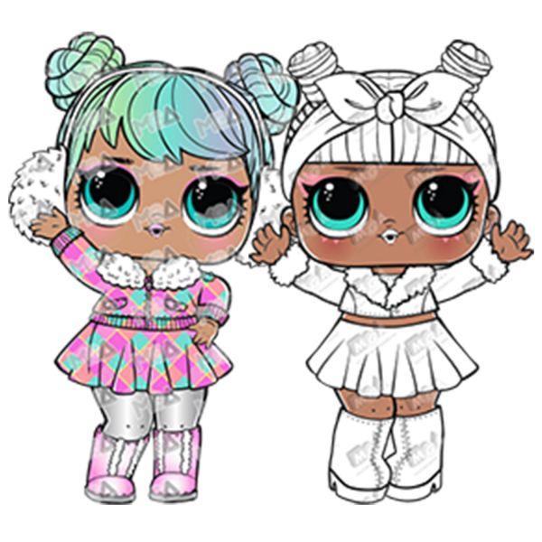 Раскраска куклы лол в зимней одежде для девочек ...