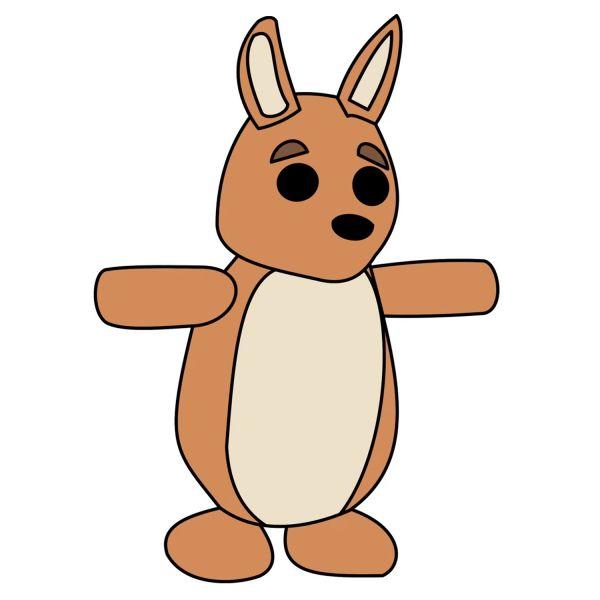 Раскраска Роблокс адопт ми пет кенгуру распечатать | Roblox