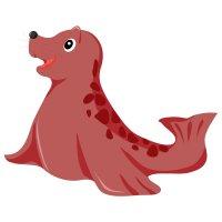 Раскраска хорошенький морской котик распечатать