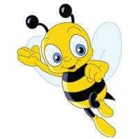 Раскраска пчелка для детей распечатать