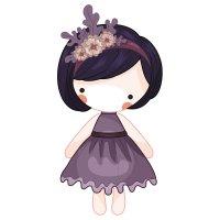 Раскраска Маленькая кукла для девочек распечатать и ...