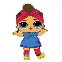 Раскраска лол кукла коротышка (shorty) в платье для ...