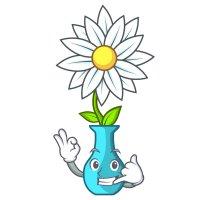 Раскраска ромашка цветочек в вазе для детей распечатать