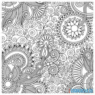 Print a coloring book many different patterns on A4