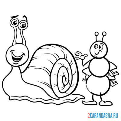 Print a coloring book and the snail on A4