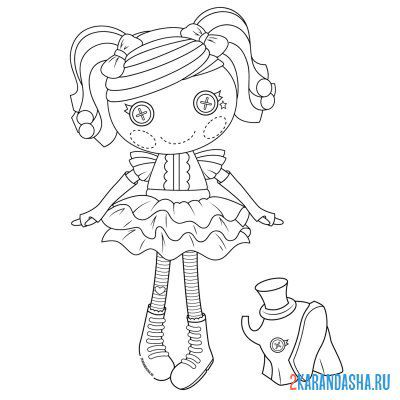 Print a coloring book doll with buttons on A4