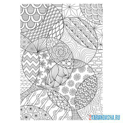 Print a coloring book patterns and lines on A4