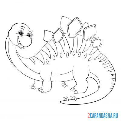 Print a coloring book large dinosaur on A4