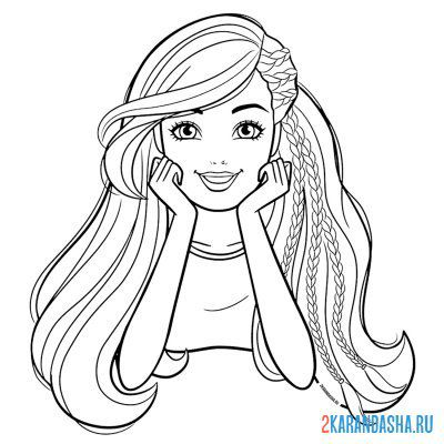 Print a coloring book with long hair on A4