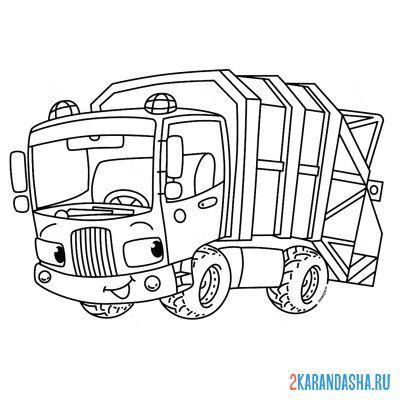 Раскраска грузовик газель для перевозки для мальчиков ...