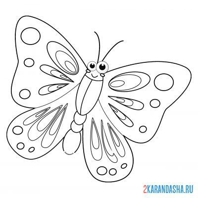 Print a coloring book butterfly named