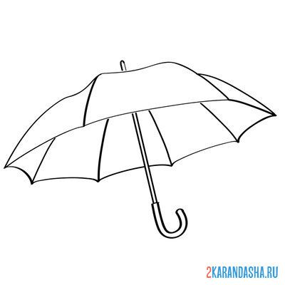 Print a coloring book umbrella on A4