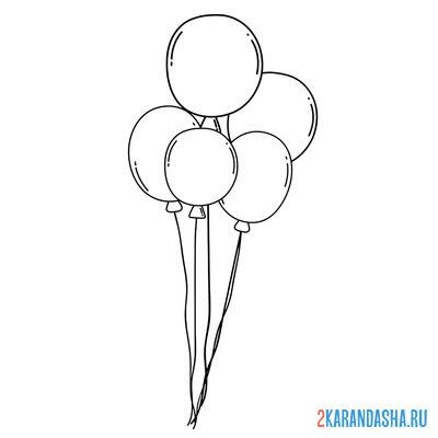 Print a coloring book air balloons on A4