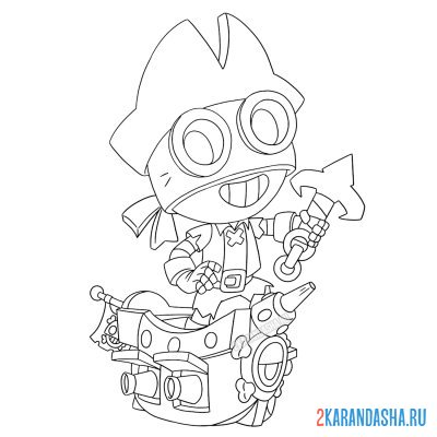 Раскраска Браво Старс тара ниндзя распечатать | Brawl Stars