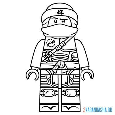 Раскраска лего ниндзяго сенсей ву распечатать