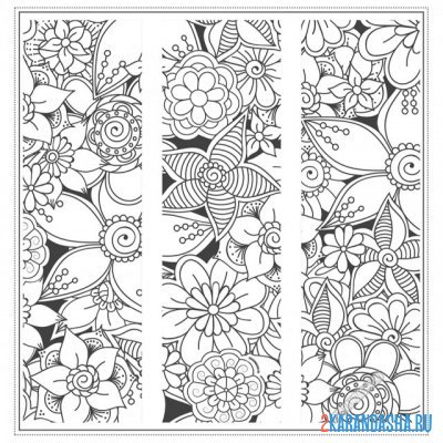 Print a coloring book flowers and patterns for the soul on A4