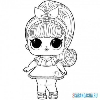 Раскраски куклы ЛОЛ для девочек распечатать бесплатно