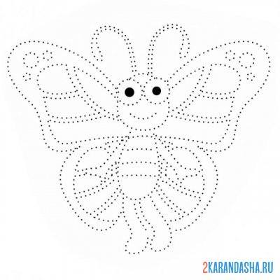 Print a coloring book cute butterfly on A4