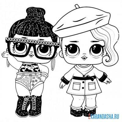 Раскраска кукла лол miss baby для девочек распечатать ...