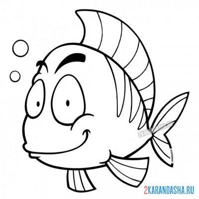Раскраска рыба еж морской распечатать