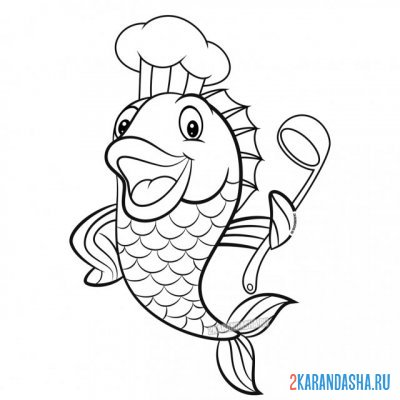 Print a coloring book cook on A4