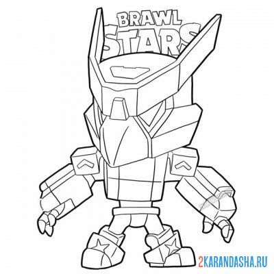 Print a coloring book skin voron mecha (mecha crow) on A4
