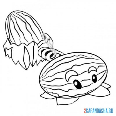 Print a coloring book ice watermelon, winter watermelon, part 2 on A4