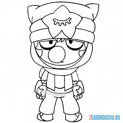 Print a coloring book sandy skin fighter (sandy, sandy) on A4