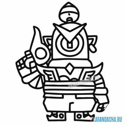 Print a coloring book skin fighter rico guard (guard rico) on A4