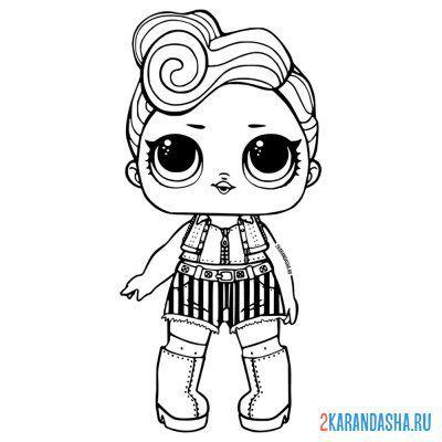 Раскраска кукла лол с волосами бхадди для девочек ...