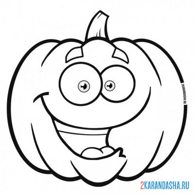 Print a coloring book pumpkin with eyes on A4