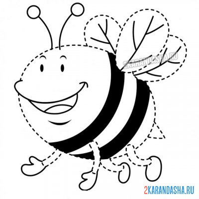 Print a coloring book bee point by point on A4