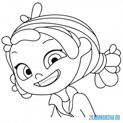 Print a coloring book funny alenka on A4