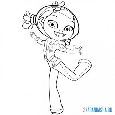 Print a coloring book alenka jumping on A4