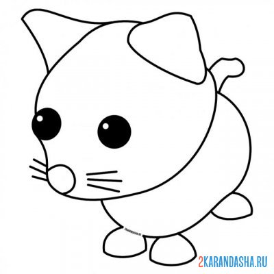 Print a coloring book adopt my pet cat on A4