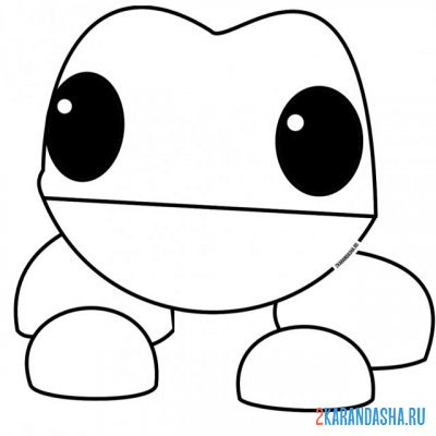 Print a coloring book adopt mi pet frog on A4