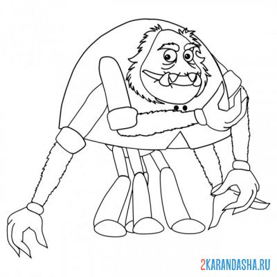 Print a coloring book spider shnyuk on A4