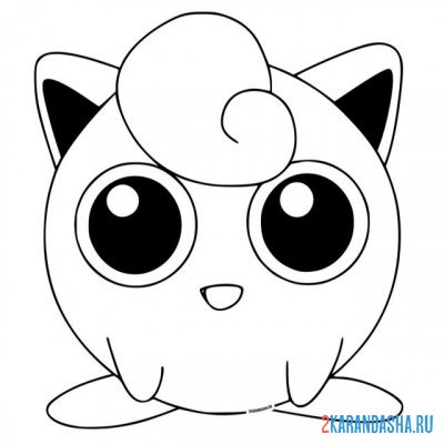 Print a coloring book jigglypuff on A4