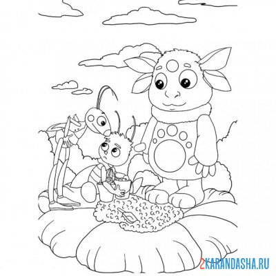 Print a coloring book helps friends on A4