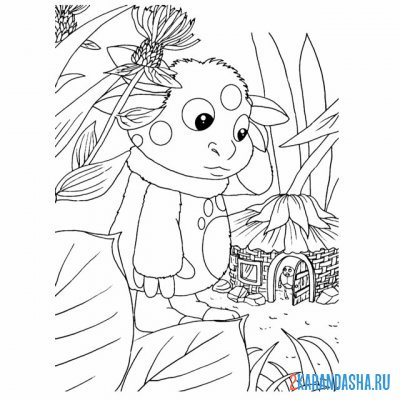 Print a coloring book what little bugs on A4
