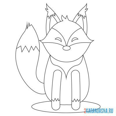 Print a coloring book fox from figures on A4