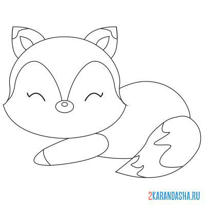 Print a coloring book the fox went to bed on A4