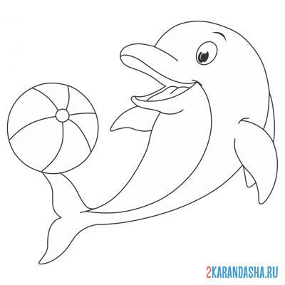 Print a coloring book satisfied plays with the ball on A4