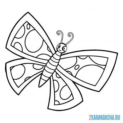 Print a coloring book butterfly for children on A4