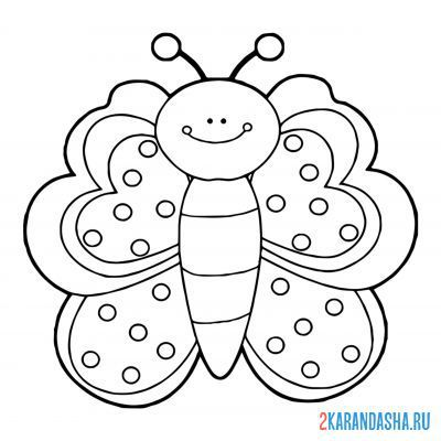 Print a coloring book butterfly for kids on A4